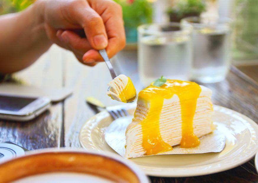 Confiture de mangue fromage blanc