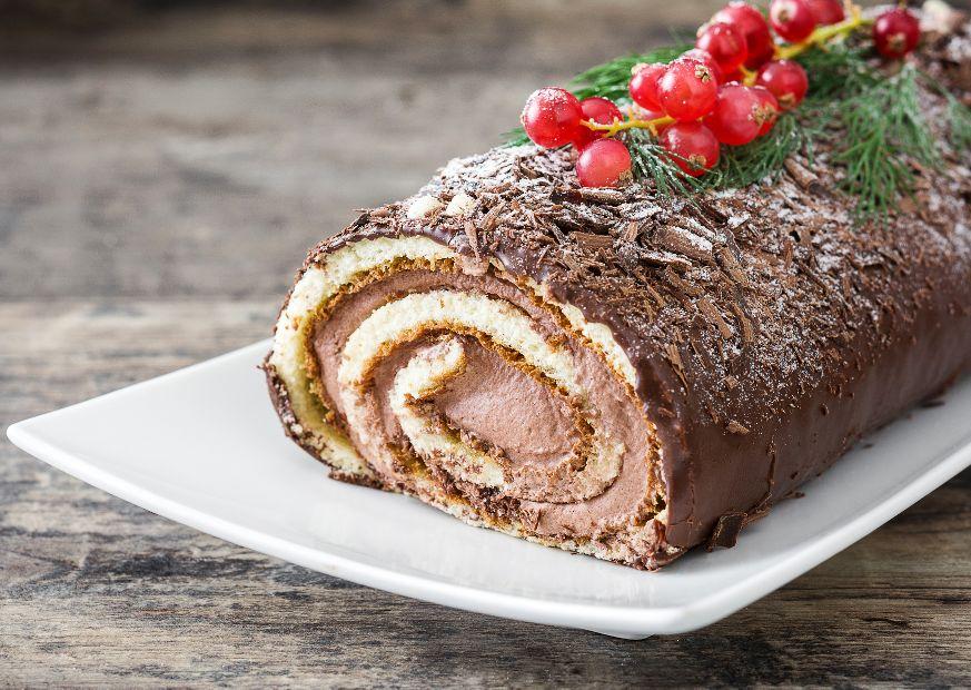 Bûche chocolat pâte à tartiner